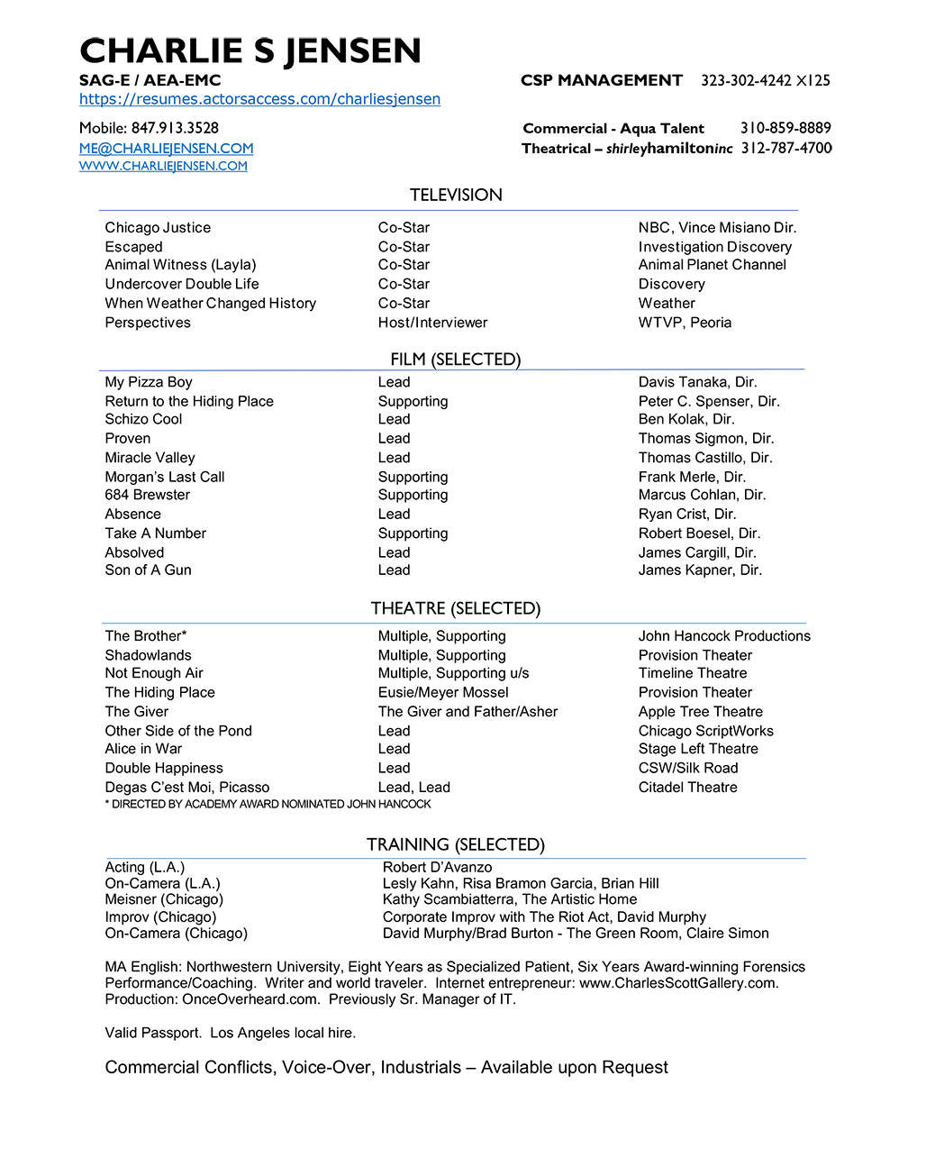 resume - for PDF click above